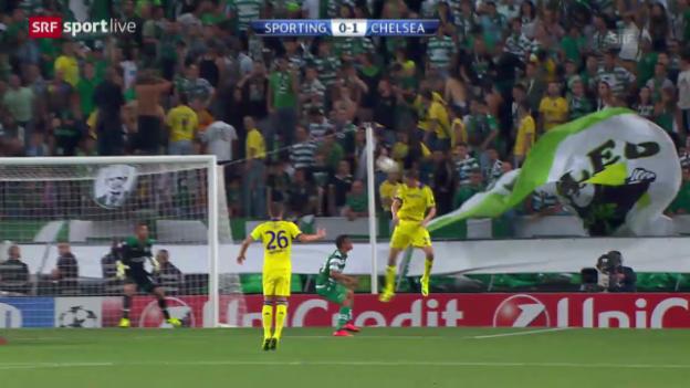 Video «Fussball: CL, Sporting-Chelsea» abspielen