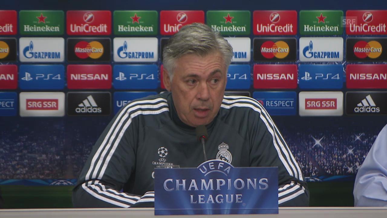 Fussball: Champions League, Carlo Ancelotti an der Pressekonferenz