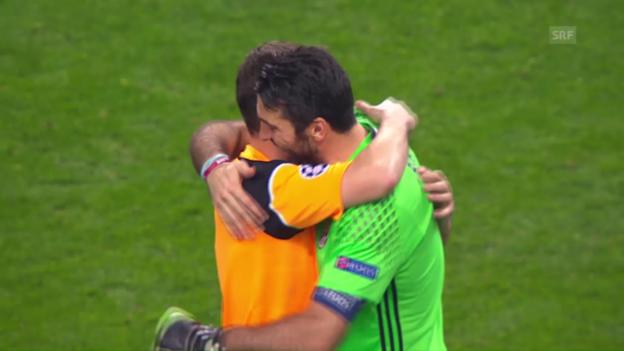 Video «Porto-Juventus: Buffon gewinnt Torhüter-Gipfel» abspielen