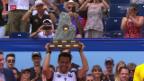 Video «Fognini feiert Turniersieg in Gstaad» abspielen
