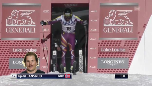 Video «Ski Alpin: Abfahrt Lake Louise, Fahrt Kjetil Jansrud» abspielen