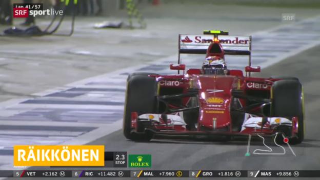 Video «Formel 1: Räikkönen bleibt bei Ferrari» abspielen