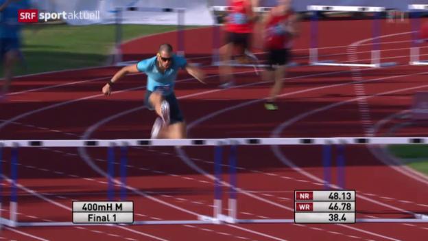 Video «Leichtathletik: Schweizer Meisterschaften, Kariem Hussein» abspielen