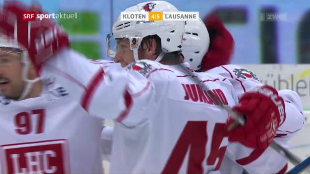 Video «Lausanne mit spektakulärem Sieg in Kloten» abspielen