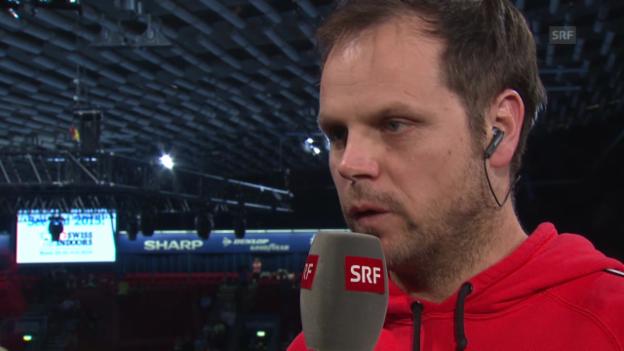 Video «Tennis: Swiss Indoors, Gespräch mit Severin Lüthi» abspielen