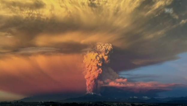 Video «Vulkanausbruch in Chile» abspielen