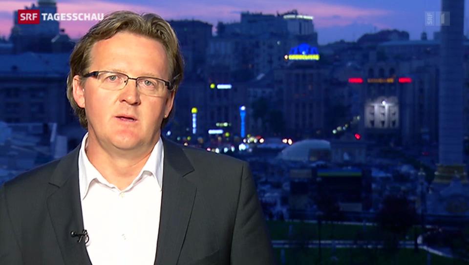 SRF-Korrespondent Christof Franzen zur Lage in der Ukraine