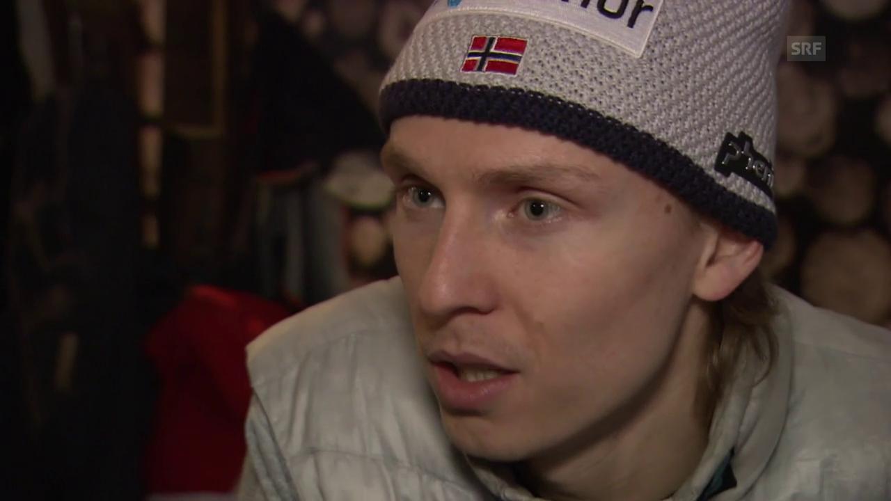 Henrik Kristoffersen vor dem Slalom in Kitzbühel