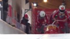 Video «Bob: Viererbob-EM La Plagne, 1. Lauf Rico Peter» abspielen