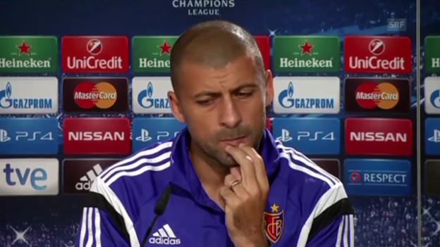 Video «Fussball: CL, Real-Basel, Walter Samuel an der Medienkonferenz» abspielen