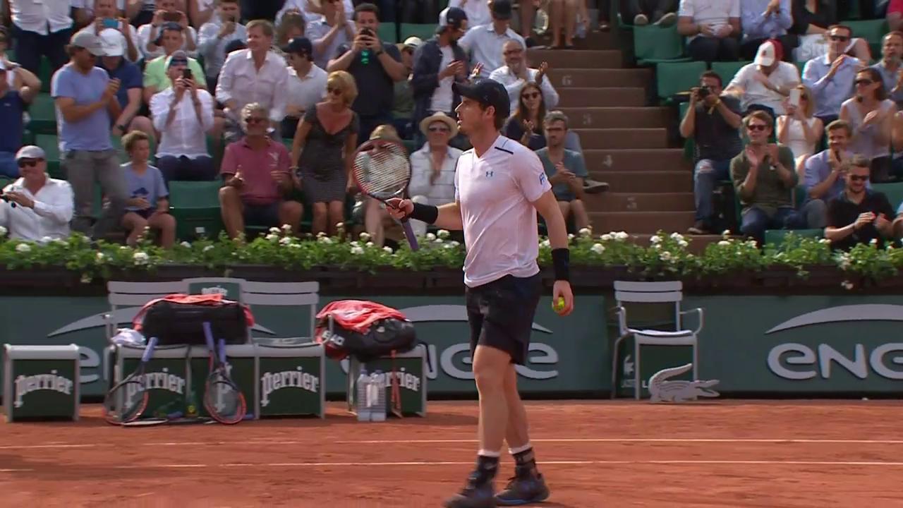 Murrays reaktionsschneller Volley zum Sieg