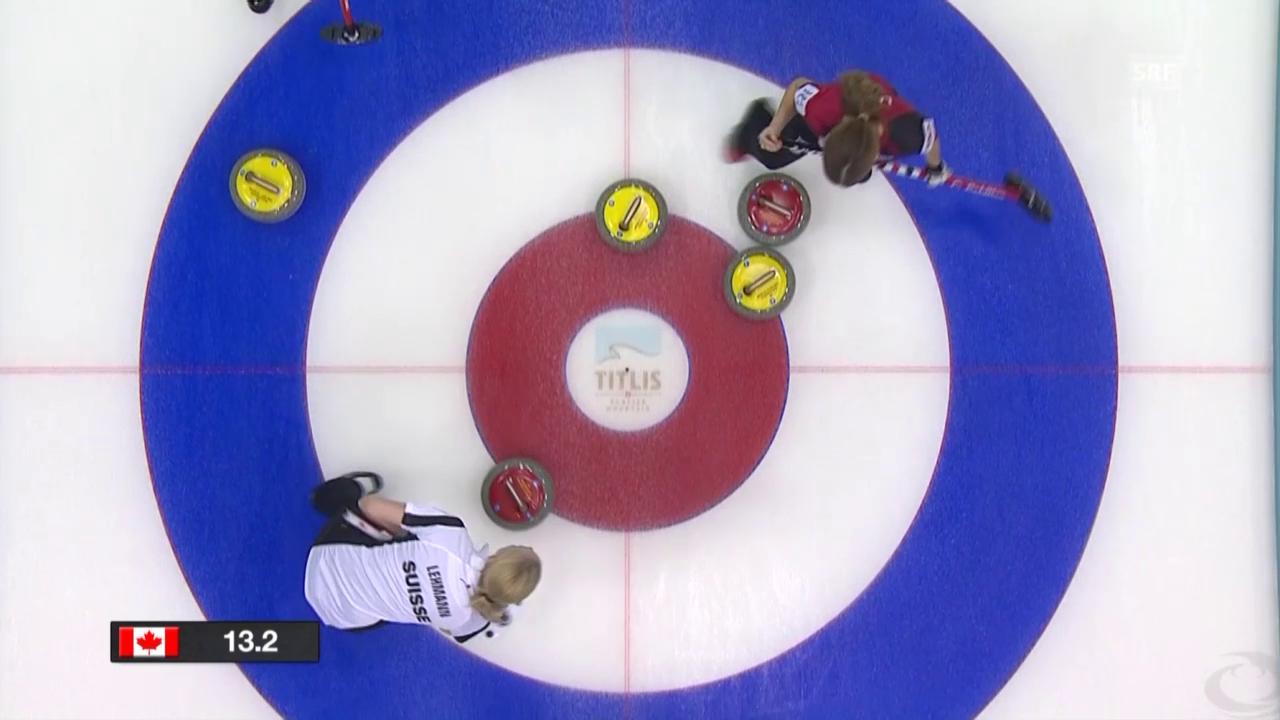 Curling: WM-Final Schweiz - Kanada, Entscheidung 6. End