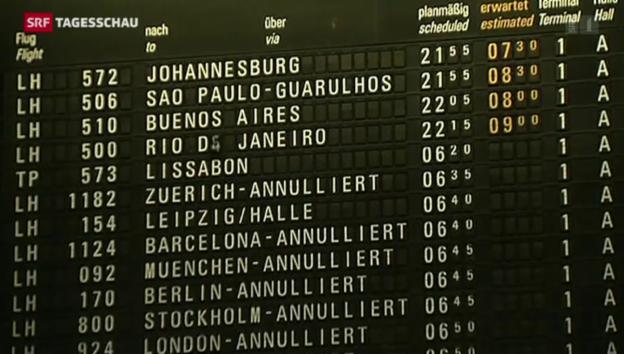 Video «Dritter Streiktag bei Lufthansa» abspielen