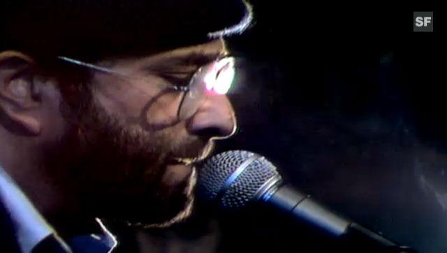 Lucio Dalla bei einem seiner früheren Auftritte Ende der 1970er-Jahre
