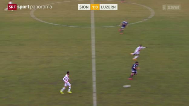 Video «Fussball: Follonier bereitet 2:0 vor, FC Sion - Luzern» abspielen