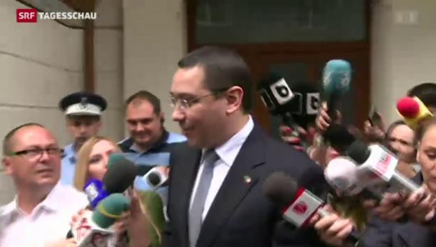 Video «Rumäniens Ministerpräsident der Geldwäscherei verdächtigt» abspielen