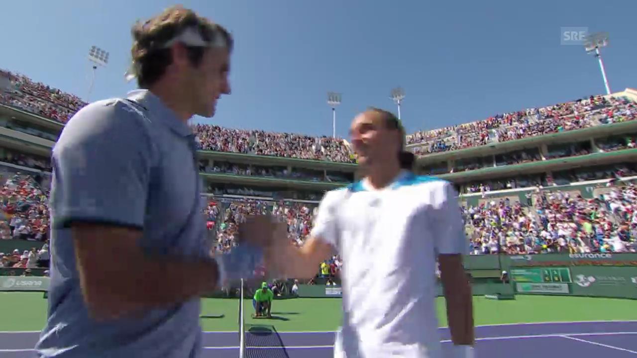 Tennis: Federer-Dolgopolow, entscheidende Ballwechsel