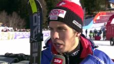 Video «Ski Alpin: Weltcup, Riesenslalom Alta Badia, Interview Caviezel» abspielen